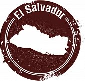 Vintage Style El Salvador Central American Country Stamp
