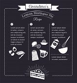 pic of recipe card  - Chalkboard meal recipe template vector design with food icons and elements - JPG