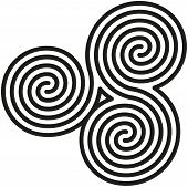 Celtic Double Spirals Labyrinth