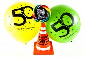 stock photo of 50th  - A gag gift for a 50th birthday celebration - JPG