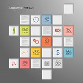 Info graphic squares elements template