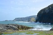 A view of cliffs from Ballintoy Harbour