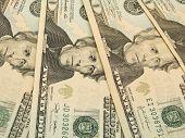 pic of twenty dollars  - US dollar banknotes  - JPG