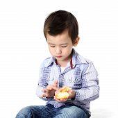 Boy Eating Dough Nut