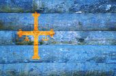 Wooden Flag Of Asturias.