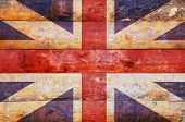 Wooden Flag Of United Kingdom.