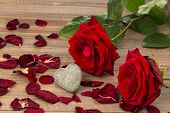 roses as a gift and surprise to a feast. symbol photo for birthday, mother's day, love, valentine's day