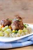 Meat Balls And Couscous