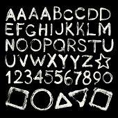 Vector hand-written brush strokes alphabet