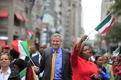 Mayor Bill De Blasio & Leticia James