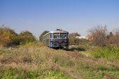 The old diesel engine passenger train