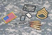 Us Army Concept With Camouflage Uniform