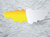 Torn Paper With Space For Text With Yellow Background