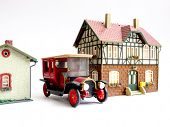 Miniature toy (House and Automobile).