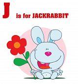 Funny Cartoons Alphabet with Text-J
