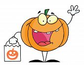 Character halloween happy pumkin bag