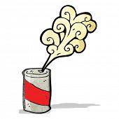 fizzing soda can cartoon