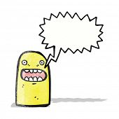 cartoon shouting ghost