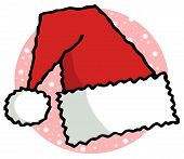 Red And White Fluffy Santa Hat Folded poster