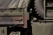 stock photo of humvee  - army truck close - JPG