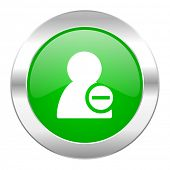 remove contact green circle chrome web icon isolated