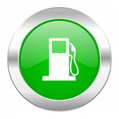 petrol green circle chrome web icon isolated