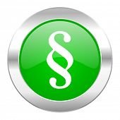 paragraph green circle chrome web icon isolated