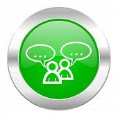 forum green circle chrome web icon isolated