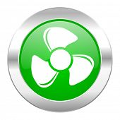 fan green circle chrome web icon isolated