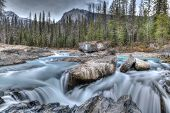 Natural Bridge At Yoho National Park In British Columbia