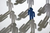 stock photo of intercourse  - Close up of team of standing papermen - JPG