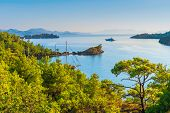Scenic Beautiful Seascape With Rocks
