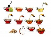 pic of black tea  - Tea time concept - JPG