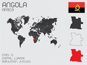 Set Of Infographic Elements For The Country Of Angola