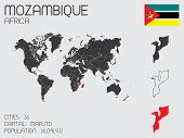Set Of Infographic Elements For The Country Of Mozambique