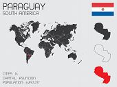 Set Of Infographic Elements For The Country Of Paraguay