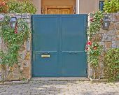 house green door Athens suburbs Greece