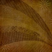 Abstract Ancient Background In Scrapbooking Style With Ornamental