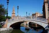 Canal and footbridge, Seville.
