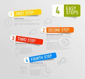 Vector Infographic 4 steps template with icons