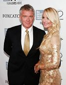 NEW YORK-OCT 10: Actor Anthony Michael Hall (L) and Lucia Oskerova attend the