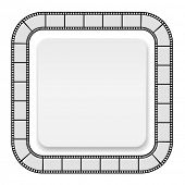 film roll frame with card - abstract background