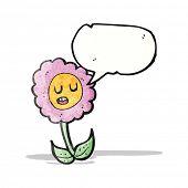 cartoon talking flower