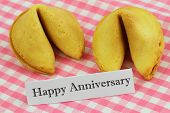 Happy Anniversary card with fortune cookies