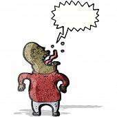 cartoon screaming man