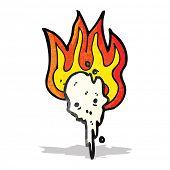 pic of gross  - gross flaming skull cartoon - JPG