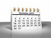 Desktop Calendar. October, 2011