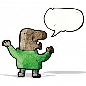 cartoon big nose man talking