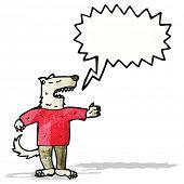 cartoon talking wolf