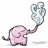 picture of squirt  - cartoon elephant squirting - JPG